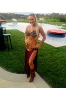 **Adds** Nicky Whelan Slave Leia Costume For Halloween October 31, 2012