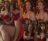 Jaime Ray Newman l Cleavage/Sexy Red Dress l Eastwick S1E5(CollageX1)