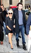 Christina Aguilera - Nice Thick Legs - Leaving Her Hotel - July 13 2011 (x16)