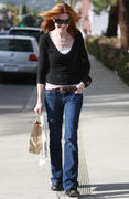 Marcia Cross shopping in Brentwood 16-01-2011