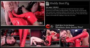 Muddy Boot Pig